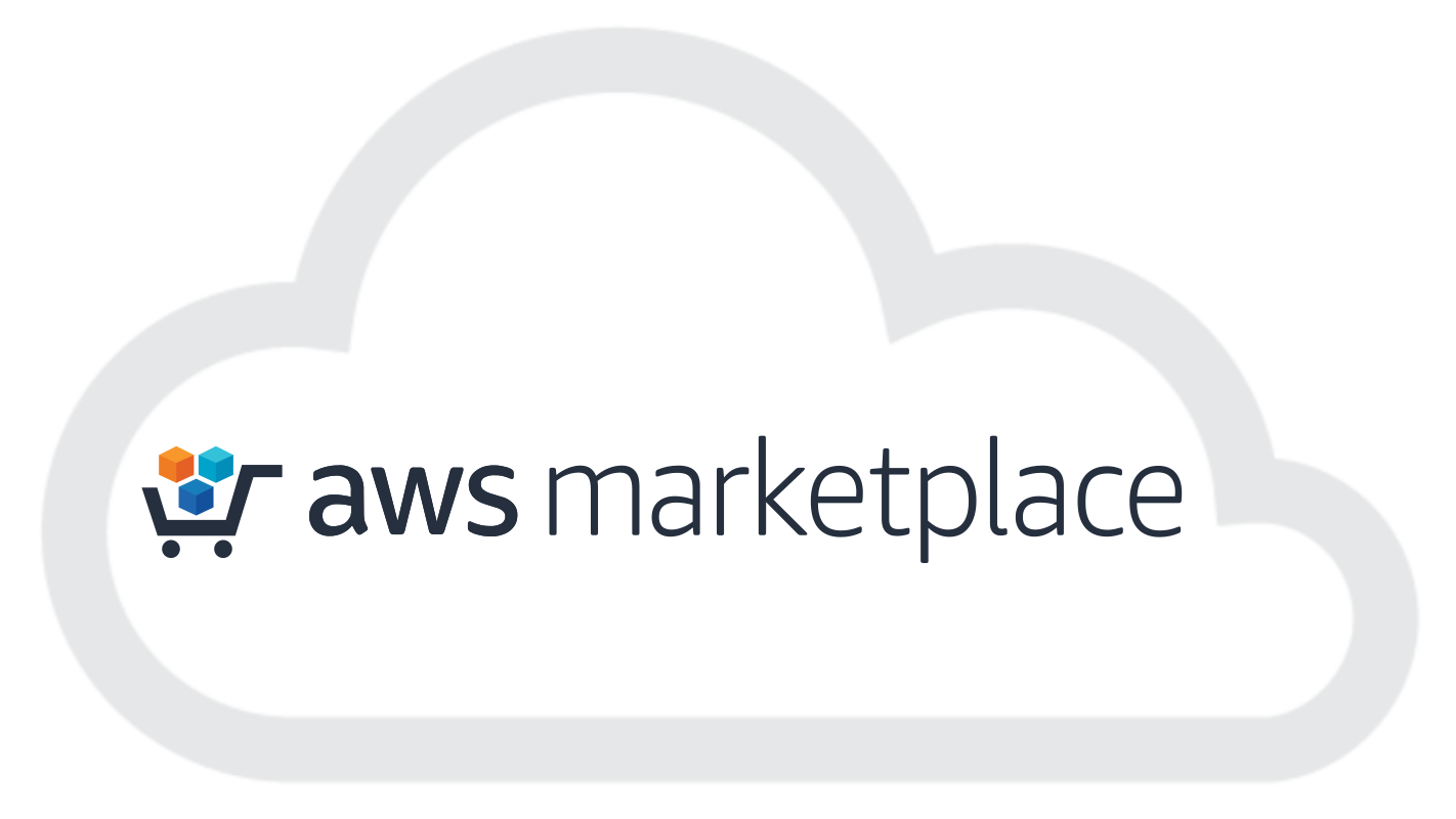 The logo of Amazon's Marketplace, where you can get started for free with ScaiData's self-service ScaiPlatform for cloud business intelligence and data management and connect to your existing Aurora, RDS or Redshift database